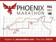 Phoenix Marathon 2013 course map